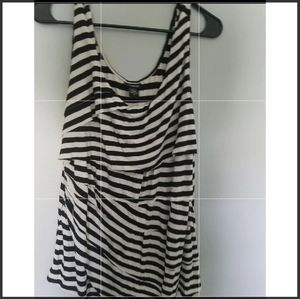 Black and white stripped size 1 torrid tank top